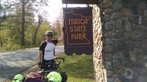 Entering Itasca State Park