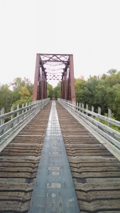 Old Railroad Bridge Crossing Mississippi in Palisade, MN