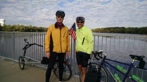 Peter and John (Warm Showers host) at Coon Rapids Dam