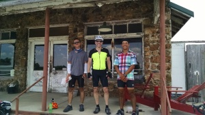 Peter and two other cross country cyclists