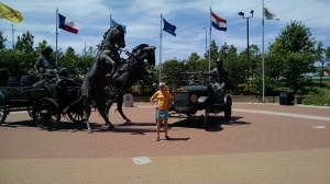 Statues on Route 66 in Tulsa