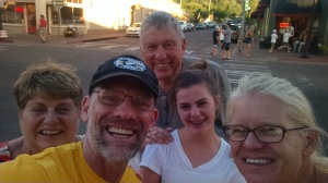 Ran into neighbors - Randy and Julie Johnson and granddaughter in Williams, AZ