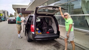 Loading the Bicycle in Dad's Van in Milwaukee